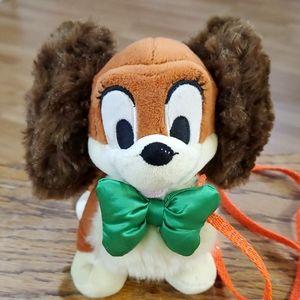 Disney store plush dog Lady with leash